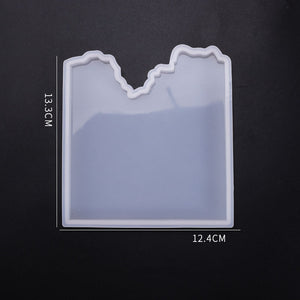 diy Crystal Epoxy Mold Irregular Table Mould Splicing Coaster Mould Variety Jewelry Decoration Silicone Mould