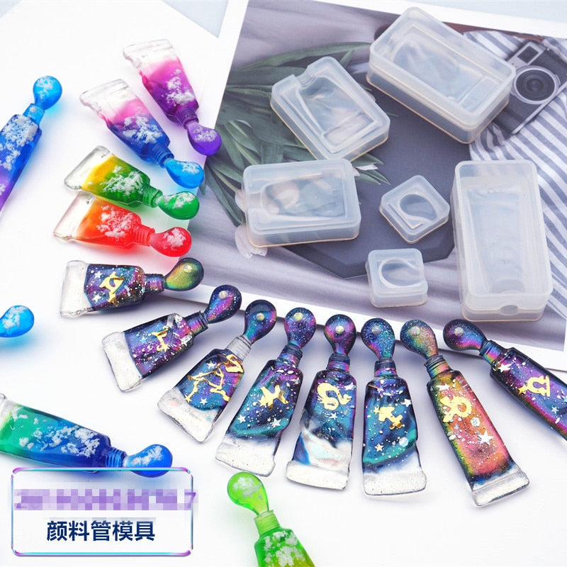 Kawaii 3D Toothpaste Shape Silicone Molds DIY Epoxy Resin Mold Jewelry Charms Tools Resin Pendant Making Mold