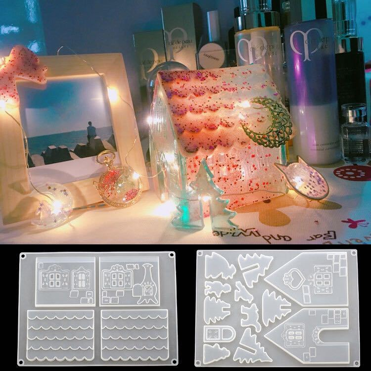 3D House Fondant Silicone Mold Candle Sugar Craft Tool Chocolate Cake Mould Kitchen DIY Baking Decorating Tools