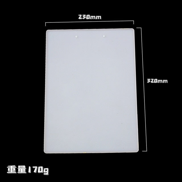 DIY Folder Resin Mold Crystal Epoxy Resin Drawing Board Mirror Silicone Mold For Resin