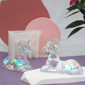 DIY Horse Resin Mold Crystal Epoxy Aromatherapy Plaster Mold With Horse AB Glue Mold For Decoration