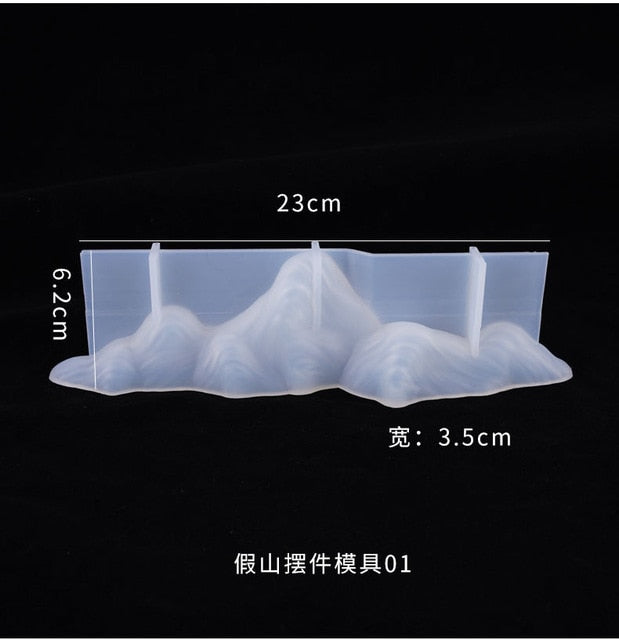 DIY Rockery Resin Mold Crystal Epoxy Rockery Decoration Mold Decoration Table Set Home Mountain Peak Silicone Mold