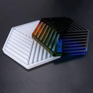 Triangle Stripe Shaped Silicone Table Tray Molds Decoration Base Moulds Jewelry Accessories for Making Decorative Jewelry