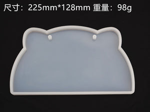DIY Epoxy house number resin mold listing silicone mold oval square cat head listing Epoxy resin mold