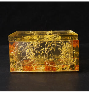 DIY crystal resin mold tissue box daily necessities napkin car tissue box silicone mold