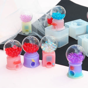 DIY Epoxy Twisting Machine Mold Three-dimensional Quicksand Game Machine Silicone Mold Twisting Crystal Ball Resin Mold