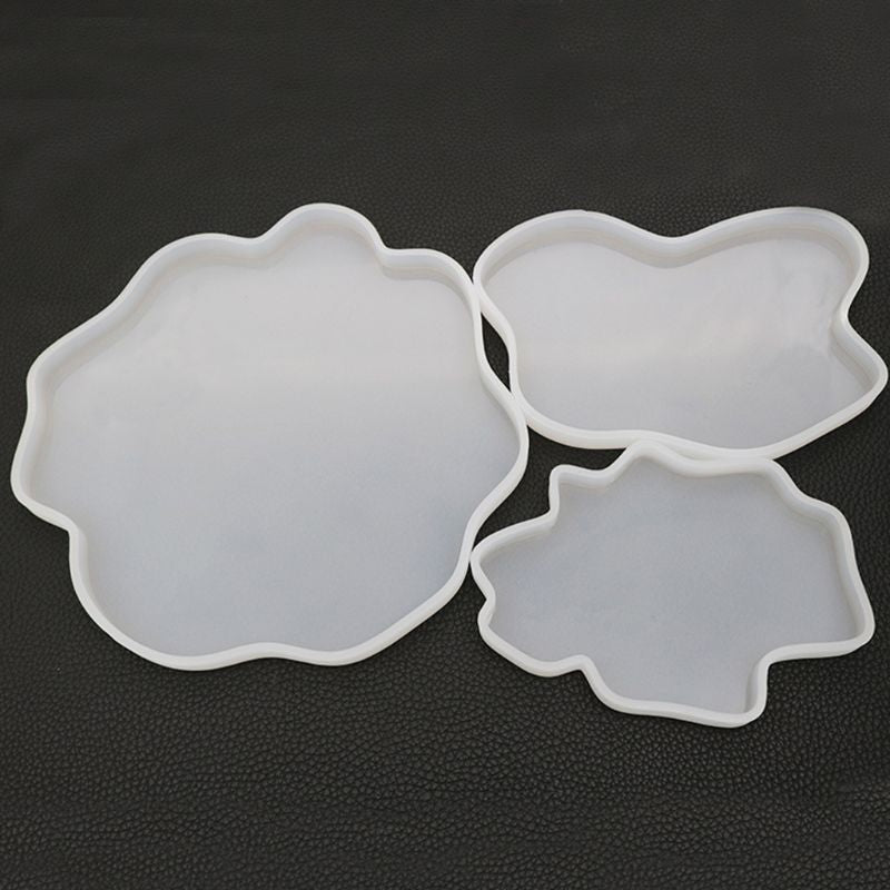 Irregular Coaster Cup Mat Silicone Mold For Resin Manual Mirror UV Resin Table Decoration DIY Crystal Epoxy Resin Molds