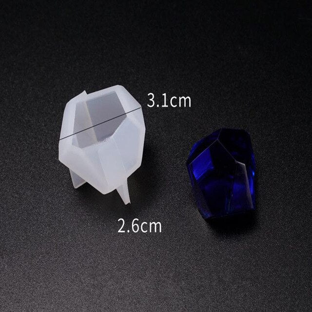 Irregular Small Cut Mold DIY Crystal Epoxy Resin Mold Table Decoration Cone Silicone Mold For Resin Jewelry Making Accessories