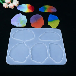 DIY Coaster Resin Mold Mirror Crystal Epoxy Mould Set Table Coaster Collection Shaped Handmade Mold