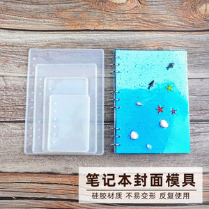 DIY silicone crystal Epoxy notebook mold B5 A5 A6 A7 high mirror cover mold