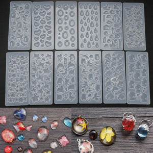 DIY Gem Patch Mold Crystal Epoxy Mold Multi Specification Star Pendant Pendant Sticker Silicone Resin Mold