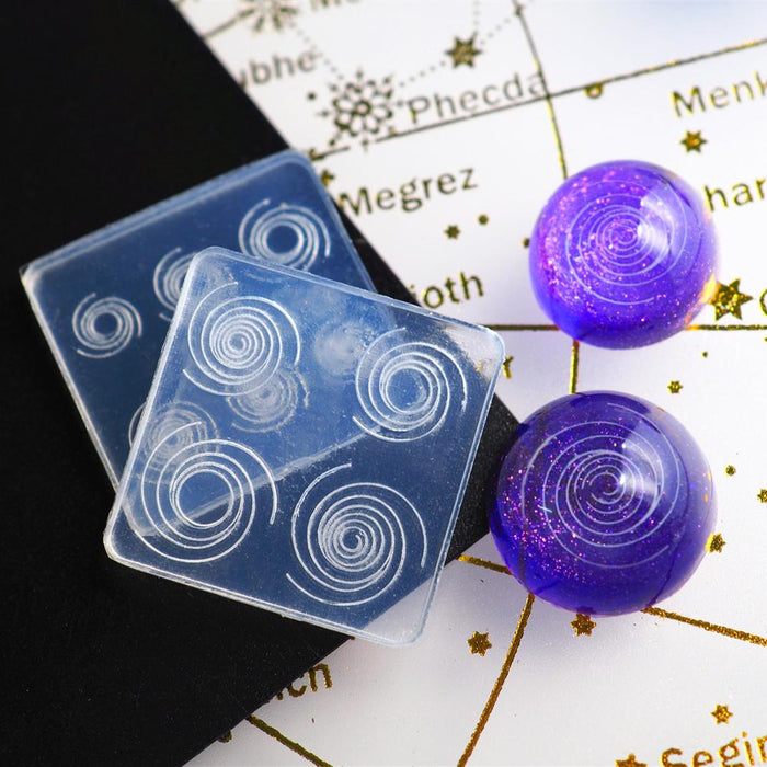 Sky Spiral Jewelry Mold UV Epoxy Resin Mold Silicone Mold For Resin Starry Sky DIY Jewelry Making Tools
