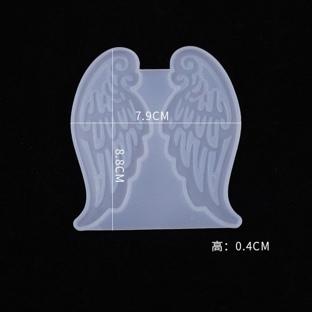 DIY Wing Folding Fan Resin Mold Crystal Epoxy Mold Fan Decoration Decoration Ornament Pendant Silicone Mold