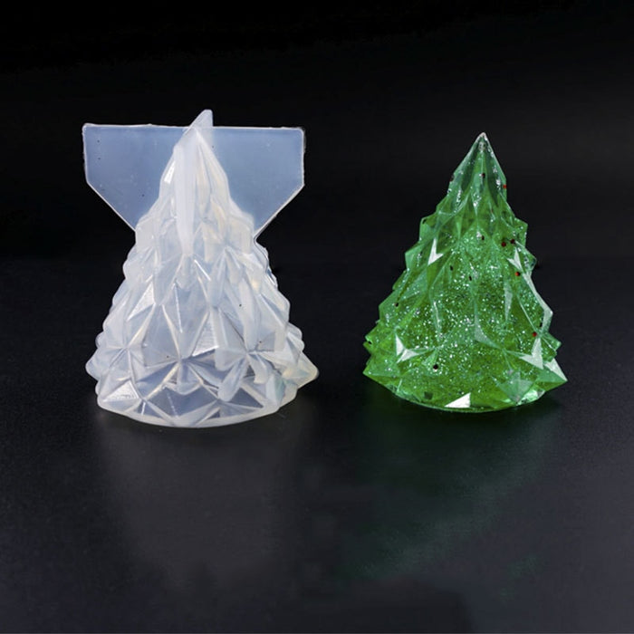 3D Christmas Tree DIY Silicone Jewelry Tools for Making Pendant Resin Casting Mould Handcraft Tool