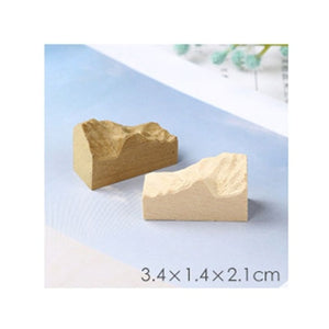 DIY crystal epoxy Resin mold mountain model mold sandalwood simulation snow mountain peak wood tumor mold