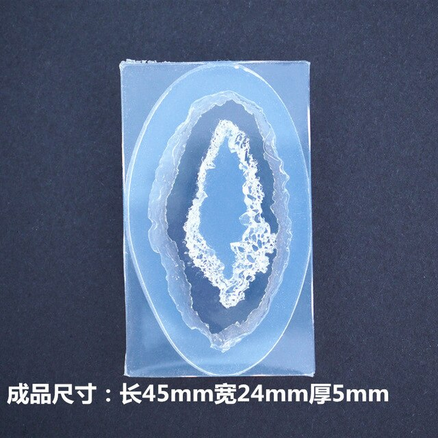 Diy Epoxy Silicone Mold For Resin Transparent Silicone Mold Epoxy Crystal Cluster Crystal Hole Mold Jewelry Making