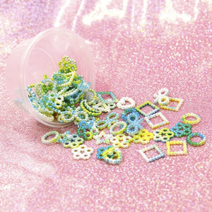 Assorted Unicorn Color ABS Pearl Bow Heart Flatback Cabochons DIY Resin Shaker Charms Molds Stuff Moon Star Slime Fillings