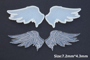 1Pair DIY Wing Mold Crystal Epoxy Silicone Angel Devil Wing Mold Epoxy Mirror Resin Mold For Jewelry Making