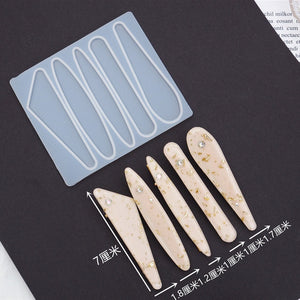 2020 NEW Hair Pin Mold UV Resin Molds DIY Geometric hairpin Molds Handcraft Silicone Mold For Resin