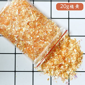 12 colors 20g crystal epoxy crystal mud filler candy paper decoration DIY material shell paper