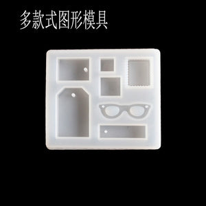 1PC Pendant Craft DIY Transparent UV Resin Liquid Silicone Combination Molds for DIY Making Finding Accessories