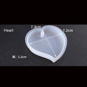 Heart-shaped Mold Hexagon Highlight Wavy Oval Expoxy Resin Mold Jewelry Mold for Making Jewelry Pendant Pendant Tools