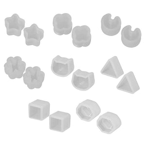 8 Pair/set UV Resin Silicone Mold For Resin DIY Crystal Epoxy Resin Mold Small Earrings Stud Making Mold