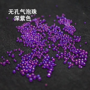 5g 1mm-3mm Colorful Bubble Beads Jewelry Filling Nail Art Transparent Expoxy Resin Jewelry Accessories