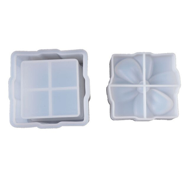 DIY Crystal Epoxy Handmade Silicone Storage Box Mold Bow Gift Box Mold Ornaments Storage Box Resin Mold