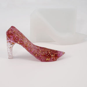 DIY High-heeled Resin Mold Crystal Epoxy Mold High-heeled Decoration Decoration Table Three-dimensional Shoe Silicone Mold