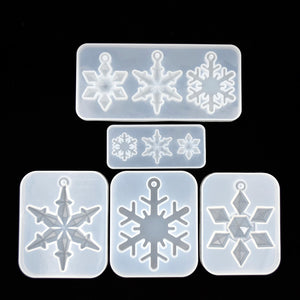 new snowflake pendant Silicone Mold for jewelry making Resin jewelry tool UV epoxy resin molds decorative crafts