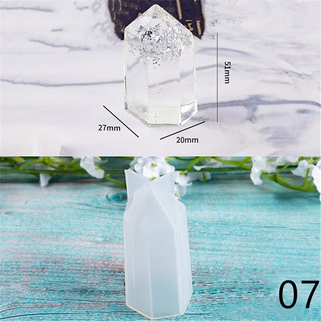 Crystal pendulum pendant with hole Silicone Mold jewelry tool UV epoxy resin molds  Dried Flower Resin Decorative Craft