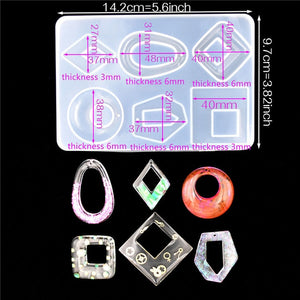 1X Silicone Mold for jewelry findings pendant Resin Silicone Mould Crafts Jewelry Making charms epoxy resin molds DZ40