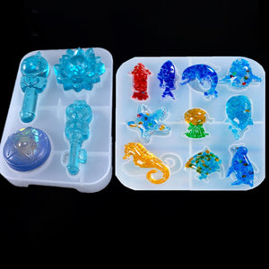 Resin Silicone Mold marine animals Magic wand for jewelry making DIY tool Crafts UV epoxy resin molds Silicone Mould