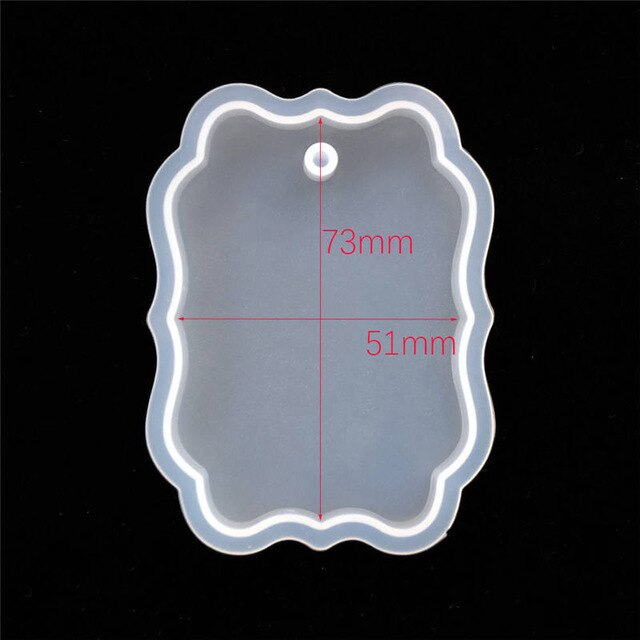 1PC tag silicone mold Resin Silicone Mould pendant handmade DIY for Jewelry Making tool epoxy resin molds craft materia