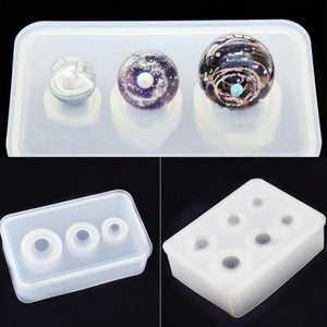 Silicone Mold for jewelry making ball beads 9mm-25mm epoxy Resin Silicone Mould diy handmade Craft charms