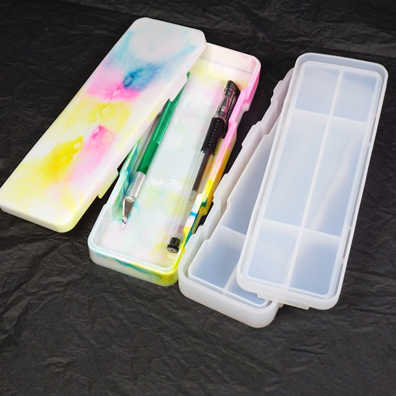 Storage box Pencil case Resin Silicone Mould Jewelry Making DIY tool UV epoxy resin Box silicone mold