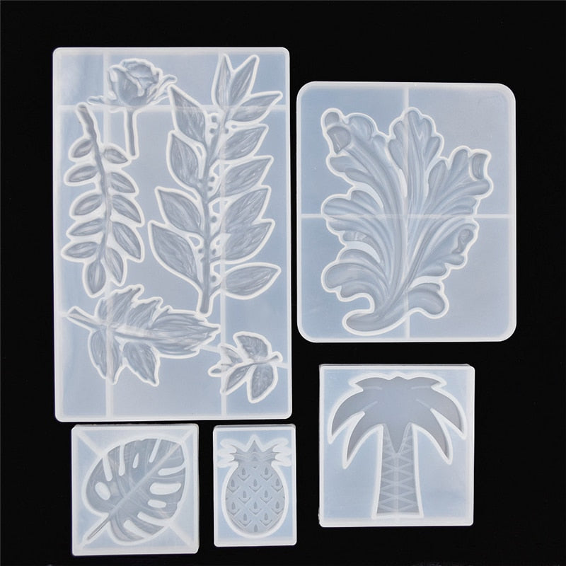 leaf rose flower pineapple Silicone Mold for jewelry making tool Resin UV epoxy resin silicone mould  decorative crafts