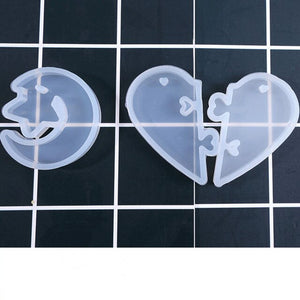 lover's love heart star moon Silicone Mold for jewelry making Resin jewelry tool UV epoxy resin molds decorative crafts