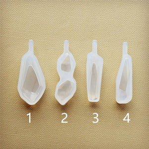 Irregular stone pendant Silicone Mold for jewelry Resin Silicone Mould handmade tool DIY  epoxy resin molds
