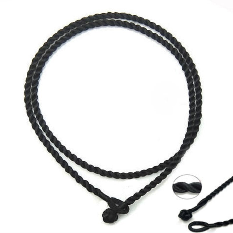 "100pcs/lot 2mm black 18"" Silk Cord Twist Thread Necklace Charms beads/pendant jewelry accessories"