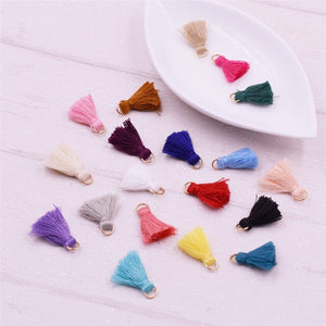 20pieces 2cm handmade Mini Cotton Tassels Small Tassels for bracelet necklace earrings making jewelry findings charms