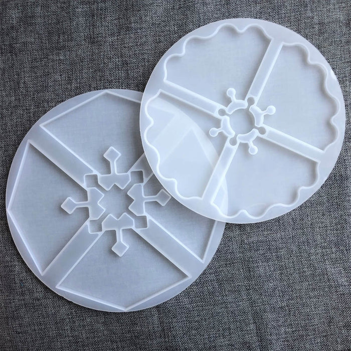 2PCS Irregular Shaped Epoxy Resin Molds Silicone Interlocked Coaster Molds Geode Agate Slice Molds for Making Cup Bowl Mats