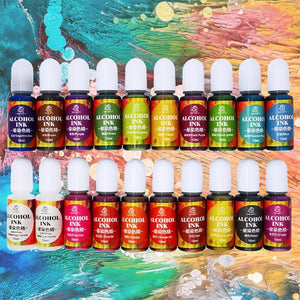 20 Colours Epoxy Pigment Liquid Colorant Dye Ink Diffusion Resin Jewelry Makin