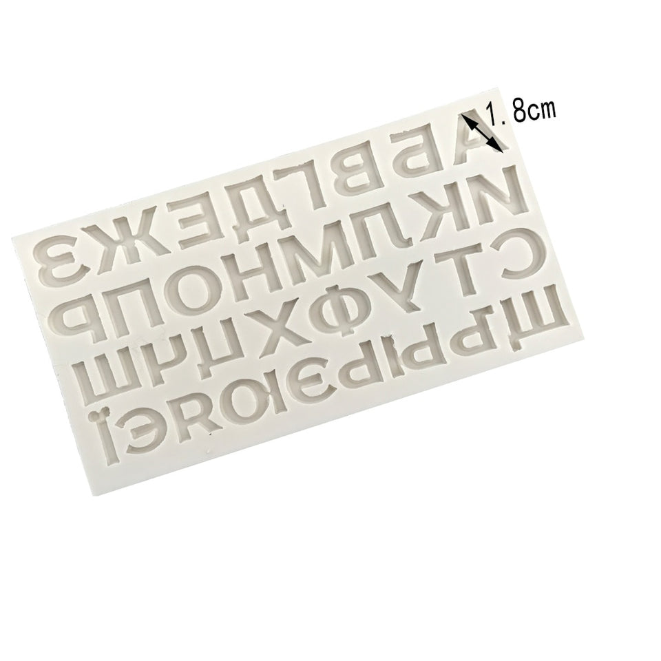 New Russian Alphabet Letter Silicone Moulds Chocolate Cake Decoration Tool DIY 3D Clay Resin Sugar Candy Uppercase Cookie Mold
