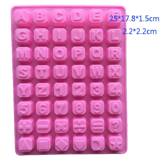 Alphabet Letters Number Silicone Cake Molds Christmas Chocolates Fondant Mould Cake Decorating Tools Concrete Resin Clay Soap