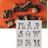Halloween Letters Fondant Cake Tools Decorating Modeling Tools Designs Sugar craft Gum paste Modelling Mold