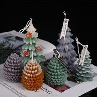 3D Christmas Tree Pine Cone Silicone Candle Mold Soap Clay Making DIY Cake Decorating Baking Tool