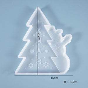 Crystal Epoxy resin mold Santa Claus Christmas tree decoration mold Christmas decoration silicone mold For Resin