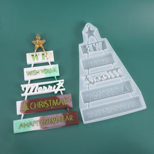Christmas tree listing decoration mold Christmas material ornaments silicone mold